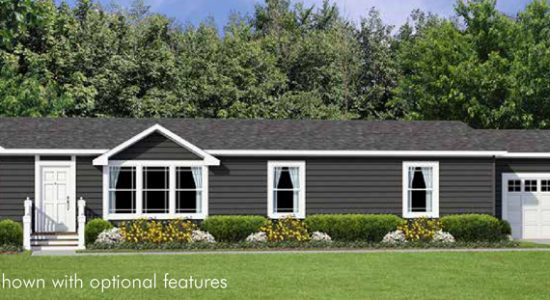 Hiland Double Wide Mobile Home Artist Rendering